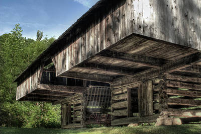 Cantilever Barn 2 Poster by Michael Eingle