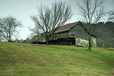 Cantilever Barn Sevier County Tennessee Poster by Douglas Barnett