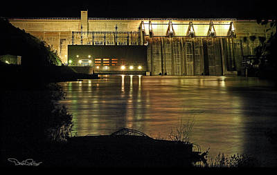 Canyon Ferry Dam At Night Poster by David Salter