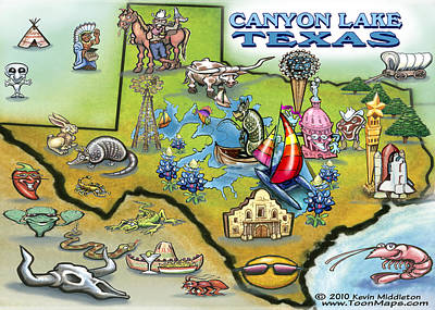 Canyon Lake Texas Poster by Kevin Middleton