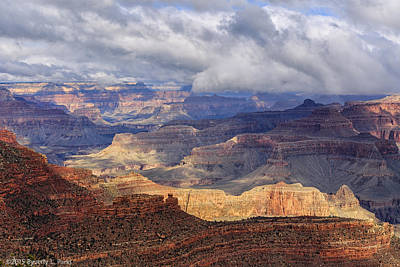 Poster featuring the photograph Canyon Layers by Beverly Parks