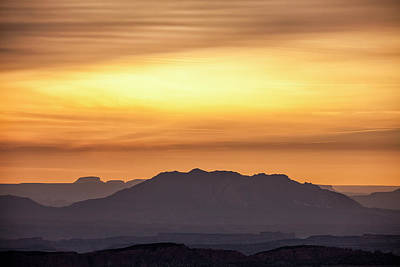 Canyon Layers With Fiery Sunrise Poster