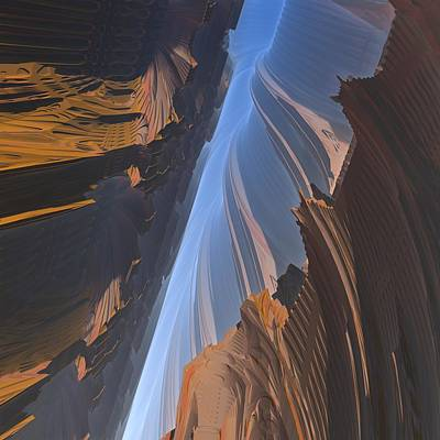 Poster featuring the digital art Canyon by Lyle Hatch