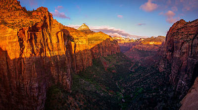 Canyon Overlook Sunrise Zion National Park Poster by Scott McGuire