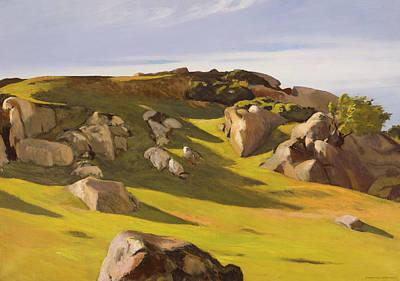 Cape Ann Granite Poster by Edward Hopper