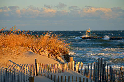 Cape Cod Bay - Dunes In Winter Poster