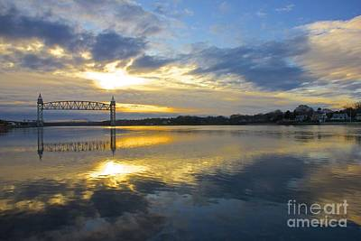 Cape Cod Canal Sunrise Poster by Amazing Jules