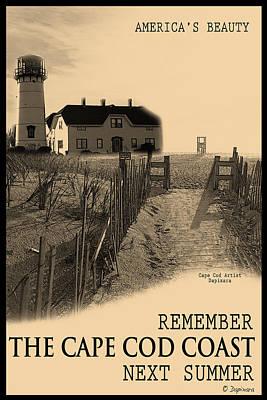 Cape Cod Coast Poster Poster by Dapixara Art