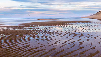 Cape Cod Low Tide Sunset Poster by Bill Wakeley