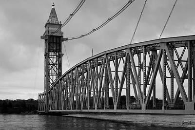 Cape Cod Railroad Bridge I Bw Poster by David Gordon