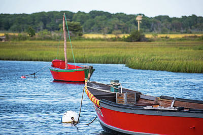 Cape Cod Red Boat Chatham Ma Poster