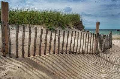 Poster featuring the photograph Cape Cod Sand Dunes by Expressive Landscapes Fine Art Photography by Thom