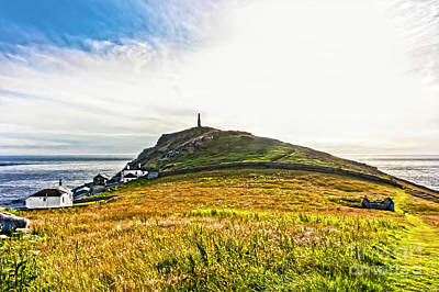 Cape Cornwall Headland Poster by Terri Waters