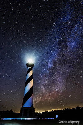 Cape Hatteras Lighthouse Milkyway Poster by M Luton