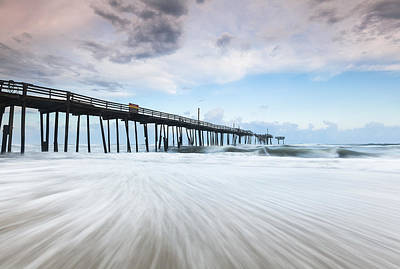 Cape Hatteras Outer Banks Frisco North Carolina Fishing Pier Poster by Mark VanDyke