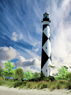 Poster featuring the painting Cape Lookout Lighthouse by Christopher Arndt