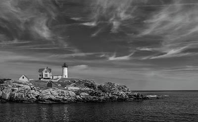 Cape Neddick Lighthouse Bw Poster