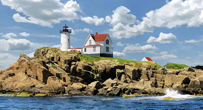 Poster featuring the painting Cape Neddick Lighthouse by Christopher Arndt