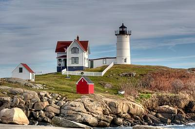 Cape Neddick Lighthouse Poster by Monica Scanlan