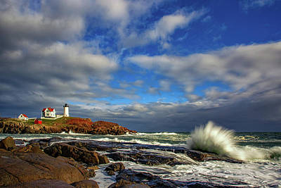 Cape Neddick Lighthouse Poster by Rick Berk