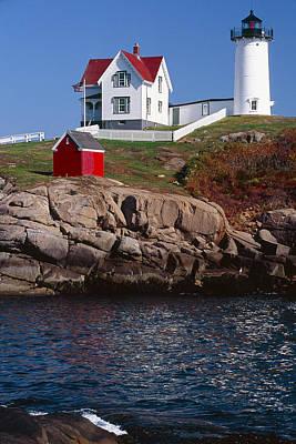 Cape Neddick Lighthouse York Maine Poster by George Oze