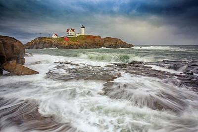 Cape Neddick Storm Poster