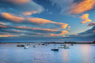 Cape Porpoise Harbor At Sunset Poster