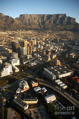 Cape Town From The Air Poster
