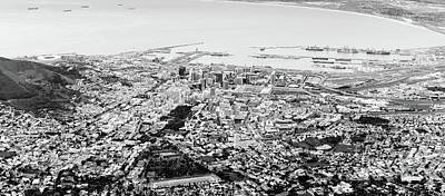 Cape Town, South Africa Black And White Poster
