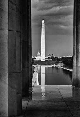 Capita And Washington Monument Poster