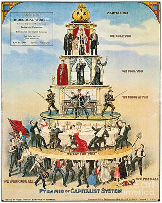 Poster featuring the photograph Capitalist Pyramid, 1911 - To License For Professional Use Visit Granger.com by Granger
