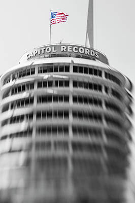 Poster featuring the photograph Capitol Records Building 18 by Micah May