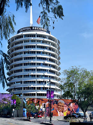 Capitol Records Tower Poster by Jennie Breeze