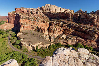 Capitol Reef Rim Overlook - Utah Landscape Poster by Gary Whitton