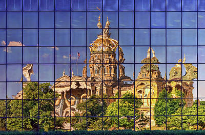 Capitol Reflection - Iowa Poster by Nikolyn McDonald