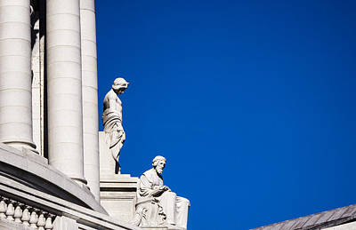 Capitol Statues - Madison Wisconsin-2 Poster by Steven Ralser