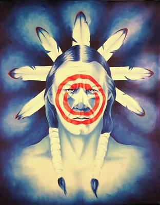 Cap'n Native America Poster by Robert Martinez