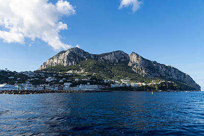 Capri Island From The Sea Poster by Georgia Mizuleva