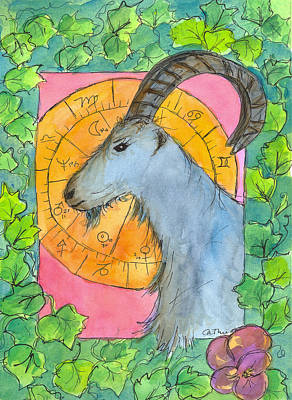 Poster featuring the painting Capricorn by Cathie Richardson