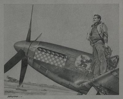 Capt Don S Gentile 1944 Poster