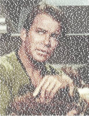 Capt. Kirk Tribble Script Mosaic Poster