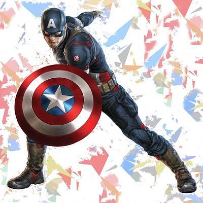 Captain America Splash Super Hero Series Poster