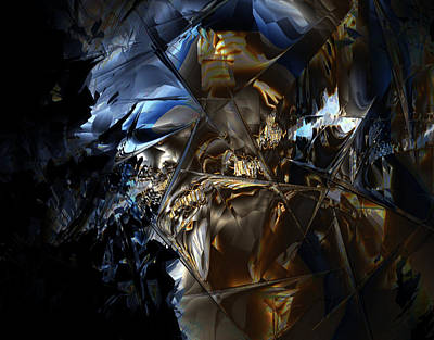 Poster featuring the digital art Captain Jack by Vadim Epstein