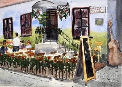 Captain Kocha Original Watercolor Landscape Painting By Nenad Kojic Poster