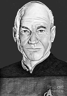 Captain Picard Poster by Bill Richards