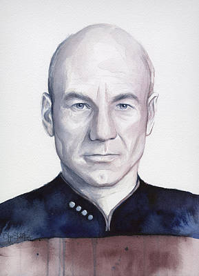 Captain Picard Poster by Olga Shvartsur