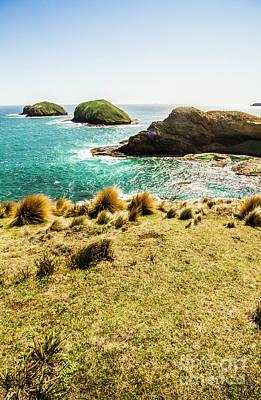 Captivating Coastal Cliff Poster