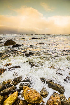 Captivating Coastal Sunrise Poster by Jorgo Photography - Wall Art Gallery