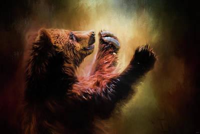 Capturing The Sun Bear Art Poster by Jai Johnson