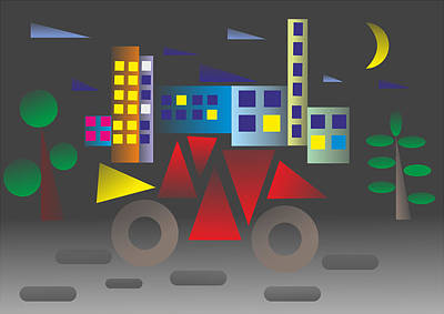 Car Night - My Www Vikinek-art.com Poster
